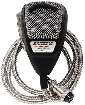 Astatic - 636LSE Noise Canceling 4-Pin CB Microphone Silver Edition - 302-10001SE