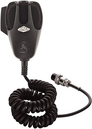 Cobra - Black 4-Pin HighGear™ Noise Canceling CB Microphone - HGM-77