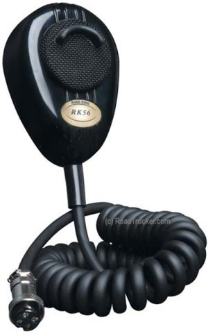 RoadKing - 4-Pin Dynamic Noise Canceling CB Microphone - Black - RKP564P