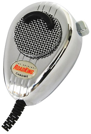 RoadKing - Chrome 4-Pin Dynamic Noise Canceling CB Microphone - RK564PCH