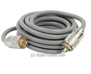 9′ RG8X Cable with PL259 Connectors