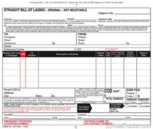 Triplicate HM and Straight Bill of Lading 5-Packs Min=50