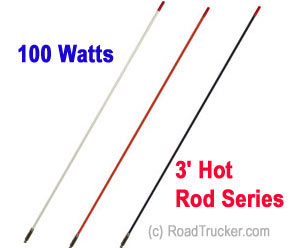 Francis 3′ Hot Rod CB Antenna