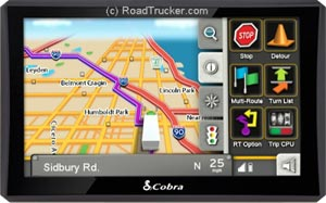 "Cobra 7"" 8000PROHD 7inc GPS Navigation for Professional Drivers with Lifetime Maps and Live Traffic"