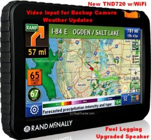 Rand McNally IntelliRoute® TND™ 720 Trucker GPS with Truck Routing TND720""