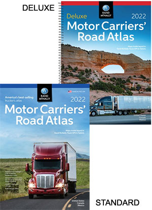 Road Atlas Motor Carriers Standard and Deluxe Laminated