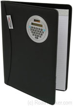 RoadPro - Black Notepad Holder with Calculator