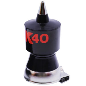 K40 CB Antenna Coil, Black with Red Logo