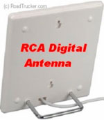 Sleek Indoor Digital Basic Flat Antenna with Coax Cable White - ANT1400