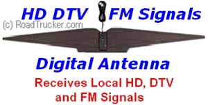 Indoor Ultra Flat Digital Basic Antenna for HD/DTV/FM Signals - ANT1050