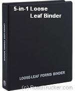 truck driver log book binders