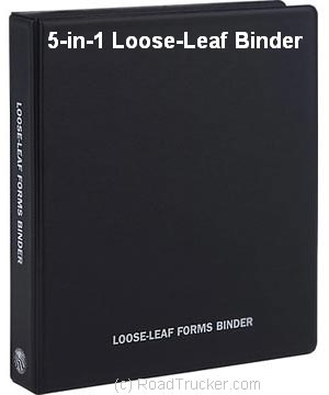 5 in 1 loose leaf binder