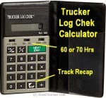 Trucker Log Chek; Calculator