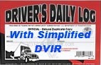 JJ Keller's Simplified DVIR Duplicate Driver's Daily Logbooks - 601-L : Truck Logbooks (dot logbooks : drivers daily log)