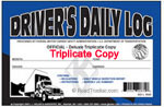 JJ Keller Triplicate Driver's Daily Log books (drivers daily logs : truck log books)