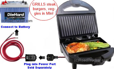 12 Volt Contact Grill with Power Port Diagram - PNP-401A