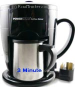 Power Hunt - 12 Volt 3 Minute Personal Coffee Maker - PNP-301A
