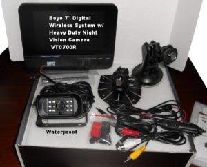 "Boyo 7"" Digital Wireless System Kit VTC700R"
