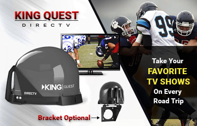 Vuqube - KING Quest Automatic Setup DirectTV ONLY Portable Antenna - VQ4100