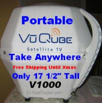 King Controls VuQube V1000 Portable Satellite TV Antenna