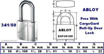 Enforcer Cargogard Portable Roll Up Door Guard And Lock