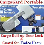 ENFORCER CargoGard Portable Roll-Up Door Lock & Guard for Todco Hasp - 8075T
