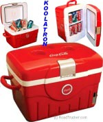 Coca Cola 14.8 Quarts Fun Cooler, 12 Volts