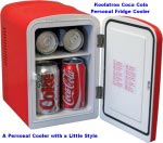Koolatron 12 Coca Cola Personal Fridge 3.8 Quart
