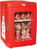 Coca Cola Fridge Portable Camping Cooler 26.4 Quarts