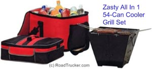 Zasty All-in-One Grill and 54-Can Cooler Set - 101LZ