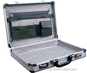 Roadpro's Travel Aluminum Briefcase - Silver - SPC-931R