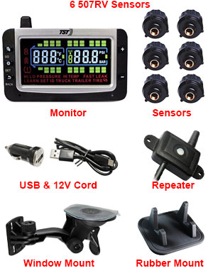 507RV 6 Sensor Kits Brass Thread