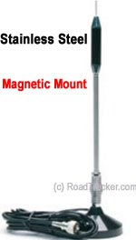 "24"" Magnet Mount Stainless CB Antenna TS-711"