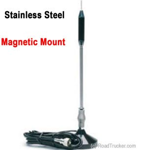 "24"" Magnet Mount Stainless CB Antenna"