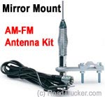 "28"" AM/FM Mirror Mount Stainless Antenna TS-307"