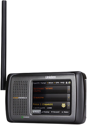 "Uniden 3.5"" - Screen Simple Programming Scanner - HOMEPATROL"