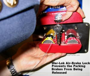 War-Lok Air Brake Lock Open - TAB-10