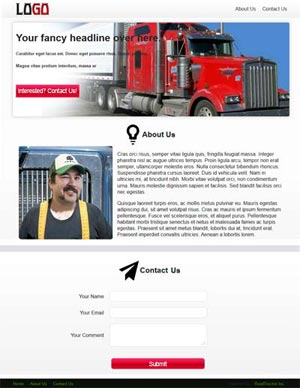 1-Page Website Design Shining Boogie Black and Red