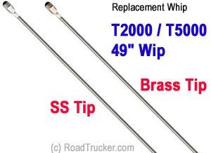 WILSON® ANTENNAS 305-900905 WILSON ANTENNAS T2000 T5000 49 REPLACEMENT CB ANT...