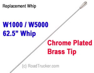 "W1000/W5000 62.5"" Wip  Chrome Plated Brass Tip"